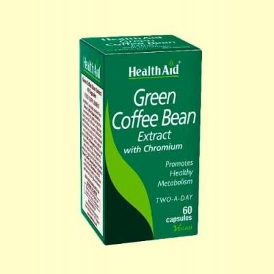 Café Verde con Cromo - 60 Cápsulas - Health Aid