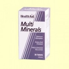 Multiminerales - 30 comprimidos - Health Aid