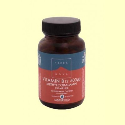 Vitamina B12 500 µg Complex (metilcobalamina) - 50 cápsulas - Terra Nova