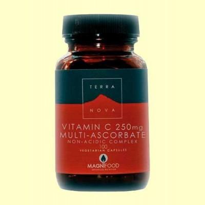 Vitamina C 250 mg Multi-Ascorbato - 100 cápsulas - Terra Nova