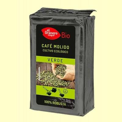 Café Verde 100% Robusta Molido Bio - 400 g - El Granero
