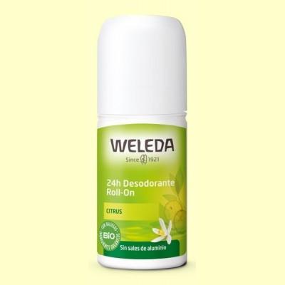 Desodorante Roll-on Citrus 24h - 50 ml - Weleda