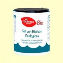 Sal Marina con Hierbas Bio - 200 g - El Granero
