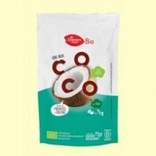 Copos de Coco Tostados Snack Bio - 80 g - El Granero