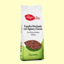 Trigo Espelta Hinchado con Agave y Cacao Bio - 200 g - El Granero
