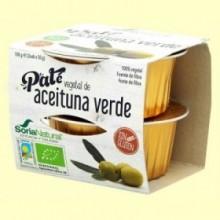 Paté Vegetal de Aceituna Verde Bio - 2 ud - Soria Natural