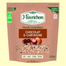 Muesli Crunchy Chocolate y Castaña Bio - 375 gramos - Favrichon