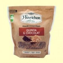 Muesli Crunchy Quinoa y Chocolate - 450 g - Favrichon