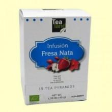 Infusión Fresas con Nata - 15 pirámides - Tealand