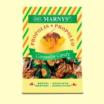 Caramelos de Propoleo Miel Mentol y Eucalipto - 60 gramos - Marnys
