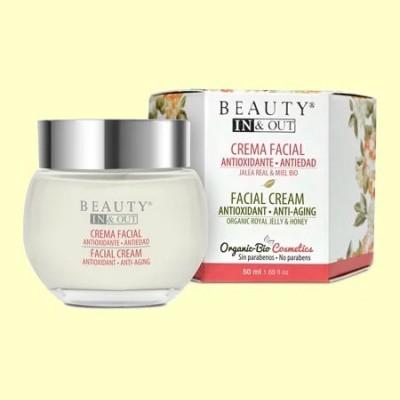 Crema Facial Antioxidante Antiedad Beauty In&Out - 50 ml - Marnys *