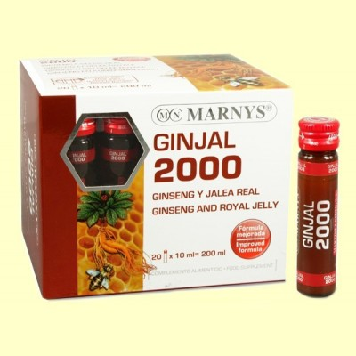 Ginjal 2000 - Ginseng y Jalea Real - 20 viales - Marnys