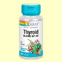 Thyroid Blend - Tiroides - 100 cápsulas - Solaray