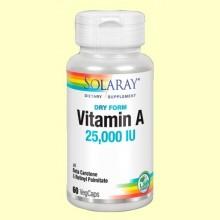 Dry A - Vitamina A - 60 cápsulas - Solaray