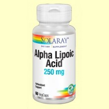 Alpha Lipoic Acid - 60 cápsulas - Solaray