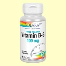 Vitamina B-6 100 mg - 60 cápsulas - Solaray
