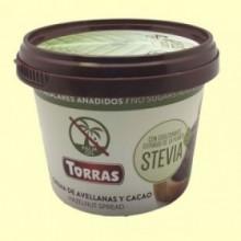 Crema de Avellanas y Cacao con Stevia - 200 gramos - Torras