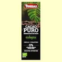 Cacao Puro desgrasado en Polvo - 150 gramos - Torras