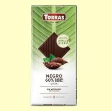Chocolate Stevia Negro - 100 gramos - Torras