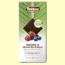 Chocolate Stevia Negro con Frutas del Bosque - 125 gramos - Torras