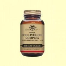 Super Cod Liver Oil Complex - 60 cápsulas - Solgar