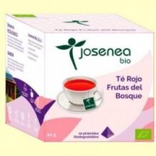 Té Rojo Frutas del Bosque Bio - 10 pirámides - Josenea