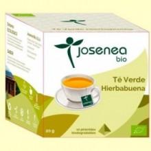 Té Verde Hierbabuena Bio - 10 pirámides - Josenea