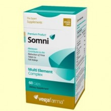 Somni - 60 cápsulas - Vegafarma