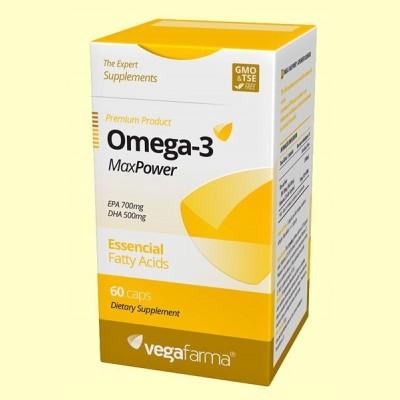 Omega3 MaxPower - 60 cápsulas - Vegafarma