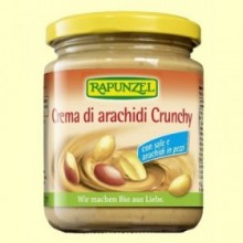 Crema Cacahuete Crunchy Sal Rapunzel - 250 gramos - Biocop