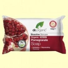 Pastilla Jabón Granada Orgánica - 100 gramos - Dr.Organic