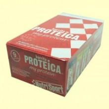 Barrita Proteica - Sabor Vainilla & Cookies - 24 barritas - NutriSport