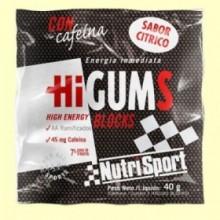 HiGUMS Cítrico - Hidratos de carbono - 40 gramos - NutriSport