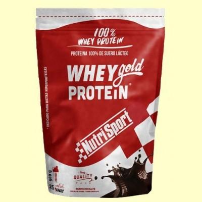 Whey Gold Protein - Nutrisport - 500 gramos - Chocolate