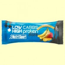 Barrita Low Carbs High Protein - Banana & Mango - 16 barritas - NutriSport