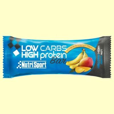Barrita Low Carbs High Protein - Banana & Mango - 60 gramos - NutriSport
