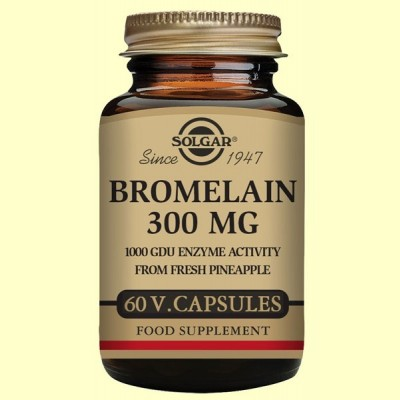 Bromelina 300 mg - Digestivo - 60 cápsulas - Solgar