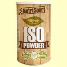 Vegan Iso Powder - Aporte energético - 490 gramos - Nutrisport
