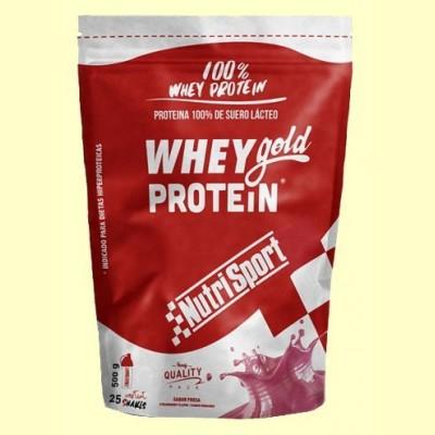 Whey Gold Protein - Nutrisport - 500 gramos - Fresa