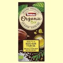 Chocolate Negro 70% con Aceite de Oliva y Flor de Sal - 100 gramos - Torras