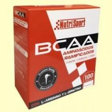 BCAA Aminoácidos Ramificados - 100 cápsulas - Nutrisport