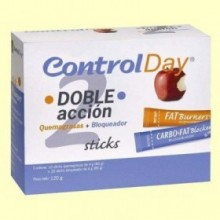 Control Day - Doble acción - Quemagrasas + Bloqueador - Nutrisport - 30 sticks