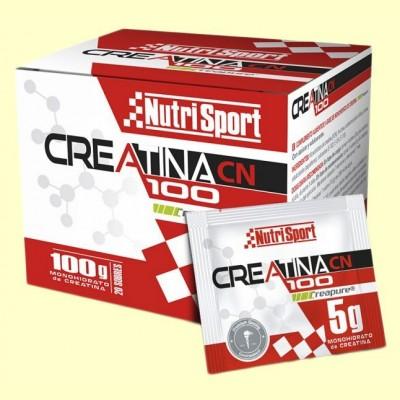 Creatina 100 Monohidrato - 20 sobres - NutriSport