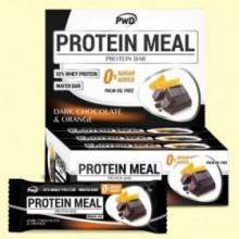 Protein Meal - Barritas Proteicas sabor Chocolate y Naranja - 12 barritas - PWD