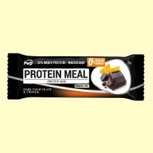 Protein Meal - Barritas Proteicas sabor Chocolate y Naranja - 1 barrita - PWD