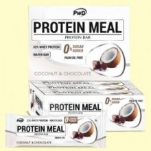 Protein Meal - Barritas Proteicas sabor Coco con Chocolate - 12 barritas - PWD