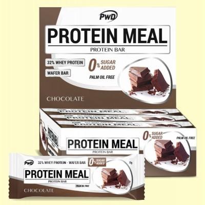 Protein Meal - Barritas Proteicas sabor Chocolate - 12 barritas - PWD