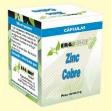 Zinc y Cobre - 50 cápsulas - Ergonat