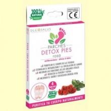 Parches Detox Pies Rosa - 4 unidades - DLG Salus