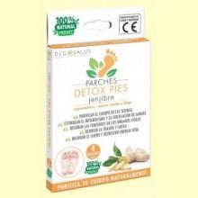 Parches Detox Pies Jengibre - 4 unidades - DLG Salus
